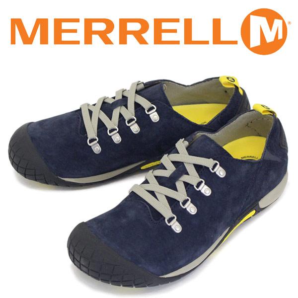 正規取扱店 MERRELL (メレル) J575517 PATHWAY LACE パスウェイ レース スエードレザーシューズ NAVY MRL015