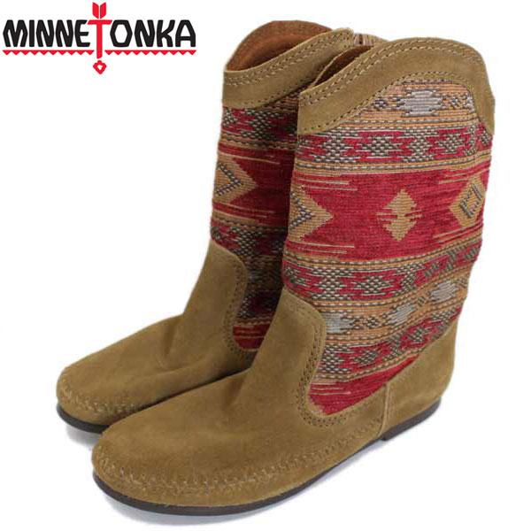 正規取扱店 MINNETONKA(ミネトンカ) Baja Boot(バジャブーツ) #1573 RED(BROWN) レディース MT334