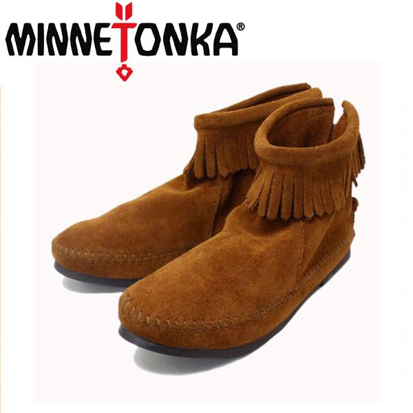 正規取扱店 MINNETONKA(ミネトンカ)Back Zipper Boots(バックジッパーブーツ)#282 BROWN SUEDE レディース MT213