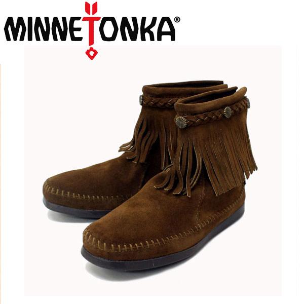 sale セール 正規取扱店 MINNETONKA(ミネトンカ) Hi Top Back Zip Boots(ハイトップバックジップブーツ)#293 DUSTY BROWN SUEDE レディース MT221