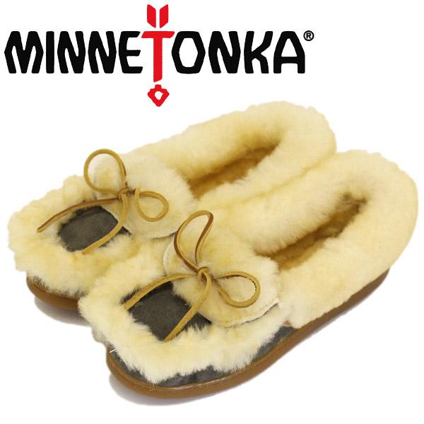 正規取扱店 MINNETONKA (ミネトンカ) 3404S ULUTIMATE SHEEPSKIN SLIPPER アルティメット シープスキン スリッパ Grey MT450