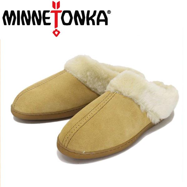 正規取扱店 MINNETONKA(ミネトンカ) Pile Lined Mule(パイルボア付きミュール) #3511 TAN レディース MT250