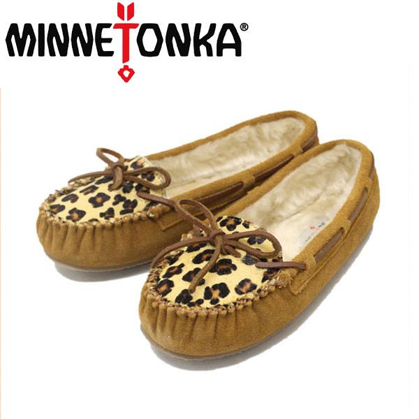 正規取扱店 MINNETONKA(ミネトンカ) Leopard Cally Slipper(レオパードキャリースリッパ) #40161 CINNAMON レディース MT268