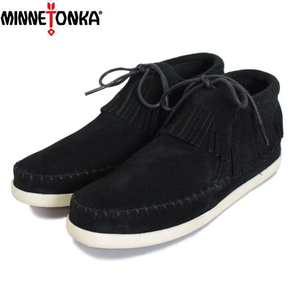 sale セール 正規取扱店 MINNETONKA(ミネトンカ) VENICE(ヴェニス) #459 フリンジショートブーツ BLACK レディース MT427