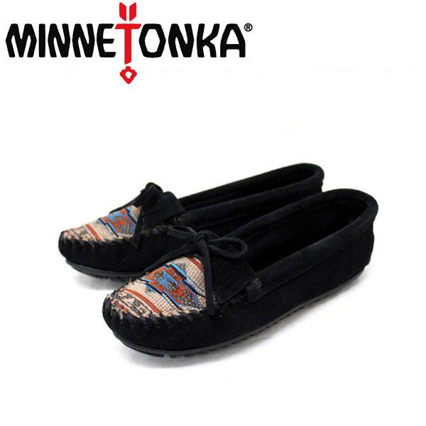 正規取扱店 MINNETONKA(ミネトンカ) El Paso II Suede Moc(エルパソ2スエードモック)#470K BLACK レディース MT092