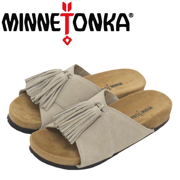 正規取扱店 MINNETONKA (ミネトンカ) 5690280 MILA ミラ レディース レザーサンダル Stone Suede MT460