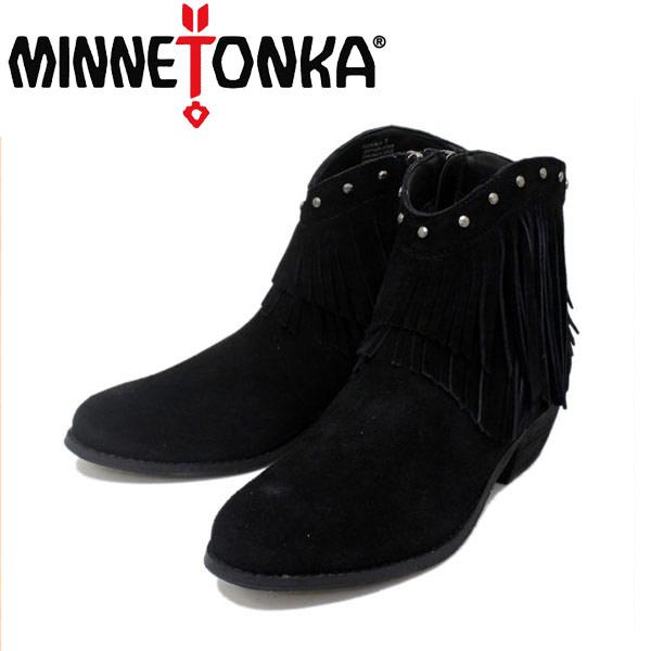 sale セール 正規取扱店 MINNETONKA(ミネトンカ) Bandera Boot(バンデラブーツ) #83010 BLACK レディース MT237
