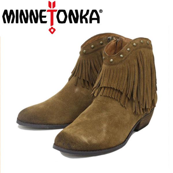 sale セール 正規取扱店 MINNETONKA(ミネトンカ) Bandera Boot(バンデラブーツ) #83013 DUSTY BROWN レディース MT238