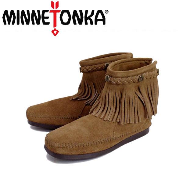 sale セール 正規取扱店 MINNETONKA(ミネトンカ) Hi Top Back Zip Boot(ハイトップ バックジップブーツ) #297T TAUPE レディース MT014