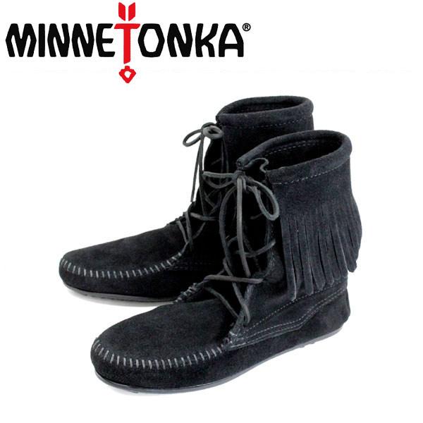 sale セール 正規取扱店 MINNETONKA(ミネトンカ)Tramper Ankle Hi Boot(トランパー アンクルハイブーツ)#429 BLACK レディース MT023