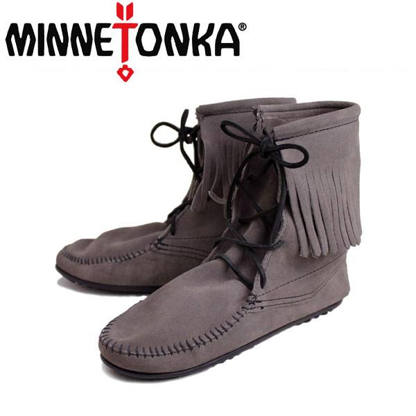 sale セール 正規取扱店 MINNETONKA(ミネトンカ)Tramper Ankle Hi Boot(トランパー アンクルハイブーツ)#421T GREY レディース MT024