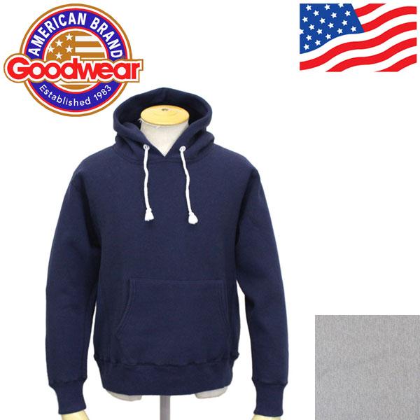 正規取扱店 Goodwear (グッドウェア) LS PULLOVER HOODIE 長袖プルオーバーパーカー 全2色 GDW003