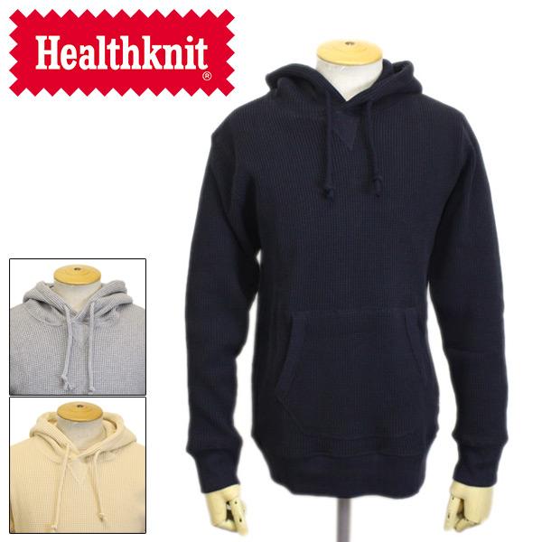 正規取扱店 Healthknit (ヘルスニット) 977 スーパーヘビーワッフル プルオーバーパーカー 全3色 HK006