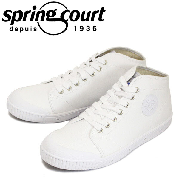 正規取扱店 spring court (スプリングコート) B2N-V1 B2 Canvas (B2キャンバス) メンズ ハイカットスニーカー WHITE (ホワイト) SPC015