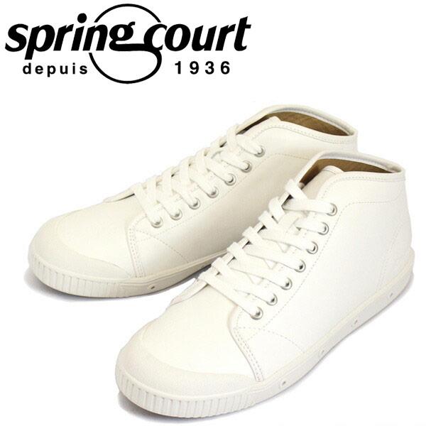 正規取扱店 spring court (スプリングコート) B2N-V5 B2 Leather (B2レザー) メンズ ハイカットスニーカー WHITE (ホワイト) SPC017