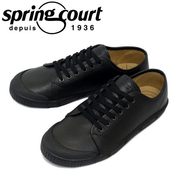 正規取扱店 spring court (スプリングコート) G2N-V5 G2 Leather (G2レザー) メンズ ローカットスニーカー BLACK (ブラック) SPC023