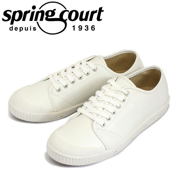正規取扱店 spring court (スプリングコート) G2N-V5 G2 Leather (G2レザー) メンズ ローカットスニーカー WHITE (ホワイト) SPC024