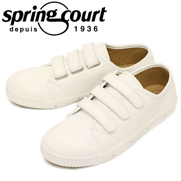 正規取扱店 spring court (スプリングコート) G2NV-5 G2 Velcro Leather ベルクロ レザー メンズ ローカットスニーカー WHITE SPC030