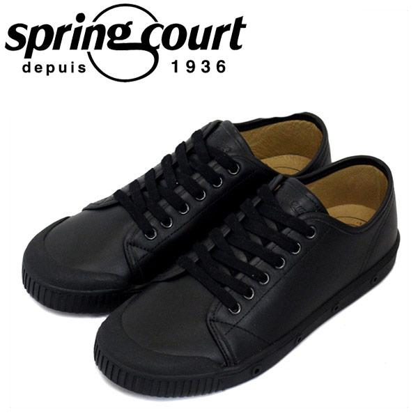 正規取扱店 spring court (スプリングコート) G2S-V5 G2 Leather (G2レザー) レディース ローカットスニーカー BLACK (ブラック) SPC025