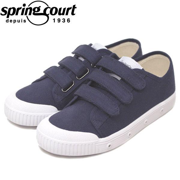正規取扱店 spring court (スプリングコート) G2SV-V1 G2 Velcro Canvas (ベロクロキャンバス) レディース スニーカー MIDNIGHT BLUE (ミッドナイトブルー) SPC001