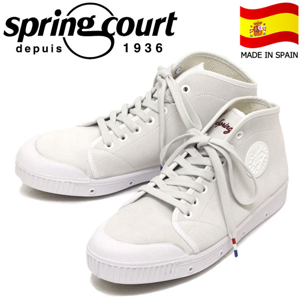 正規取扱店 spring court (スプリングコート) VB2N-S2 B2 SUEDE VULCA スエードバルカ メンズ ハイカットスニーカー WHITE SPC044
