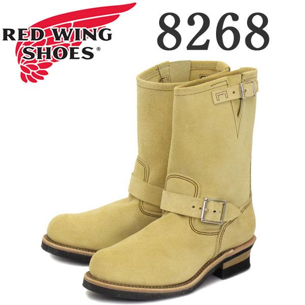 正規取扱店 Red Wing(レッドウイング) 8268 ENGINEER BOOTS(エンジニアブーツ) ベージュ・ラフアウト(スエード)