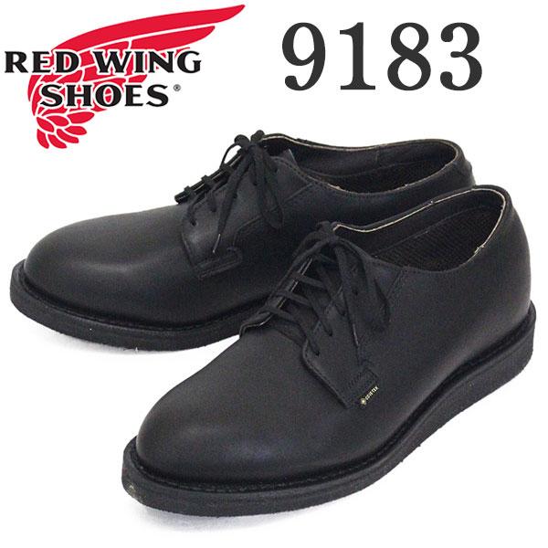 正規取扱店 2020年 新作 REDWING (レッドウィング) 9183 Postman Oxford GORE-TEX ポストマンオックスフォード ゴアテックス ブラックユーコン