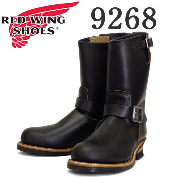 正規取扱店 RED WING(レッドウィング) 9268 Engineer Boots(エンジニアブーツ) ブラック・クロンダイク 茶芯