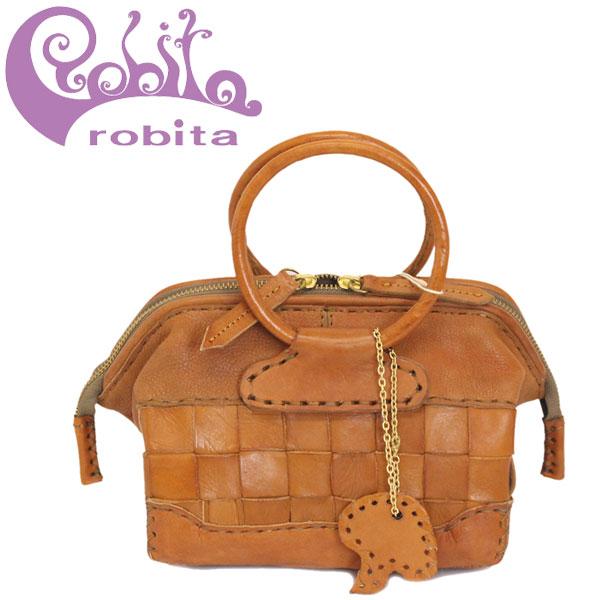 正規取扱店 robita (ロビタ) AN-222 メッシュレザー ミニドクターズ バッグ CAMEL RBT050