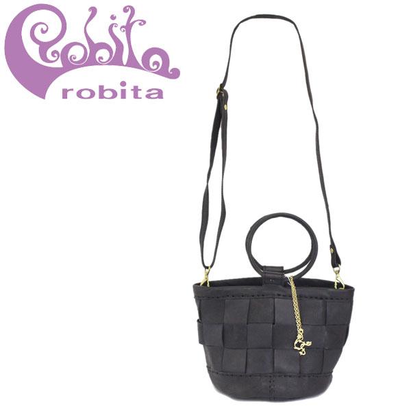正規取扱店 robita (ロビタ) AN-225 メッシュレザー 2WAY ショルダーバッグ BLACK RBT053