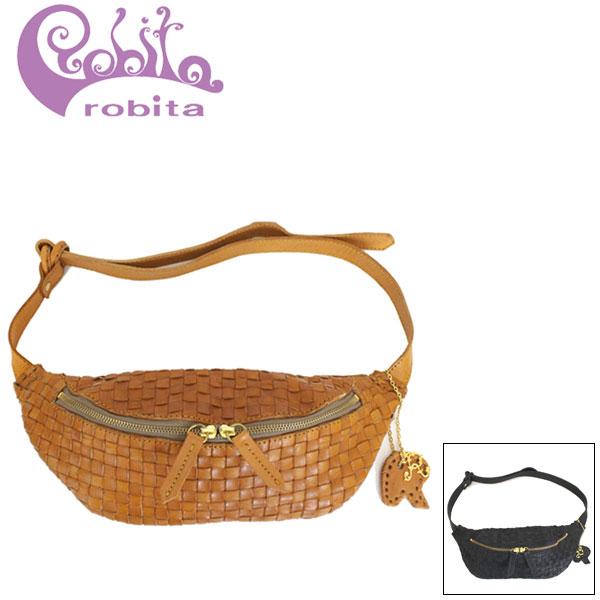 正規取扱店 robita (ロビタ) AN-242 メッシュレザー ウエストポーチ ミニバッグ 全2色 RBT062