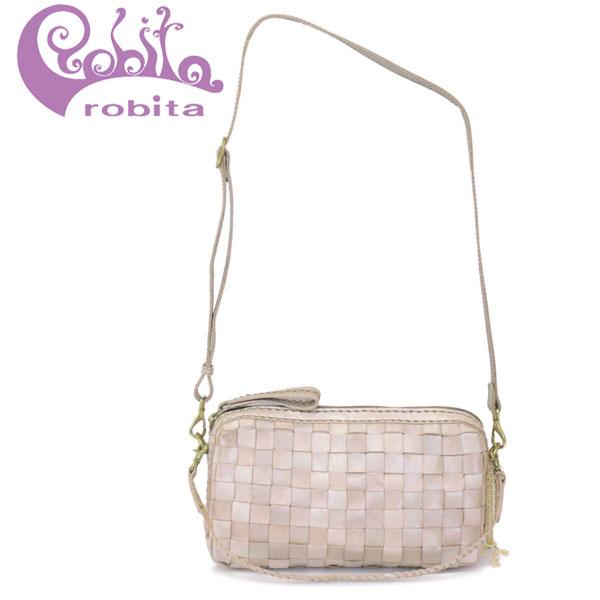正規取扱店 robita (ロビタ) STA-172 メッシュレザー 3WAY ショルダーバッグ S SILVER RBT057