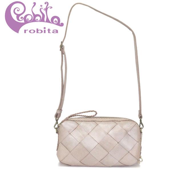 正規取扱店 robita (ロビタ) STA-232 メッシュレザー 2WAY ショルダーバッグ SILVER RBT058