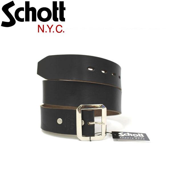 正規取扱店 SCHOTT(ショット) PERFECTO BELT(パーフェクトベルト) BLACK ブラック