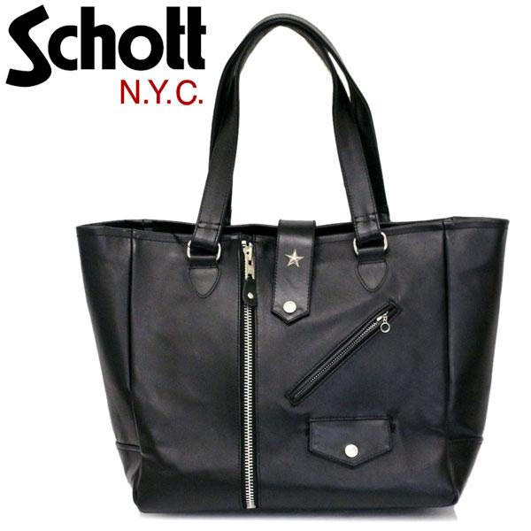 正規取扱店 Schott (ショット) 3109062 RIDERS TOTE BAG ライダース トートバッグ 09BLACK