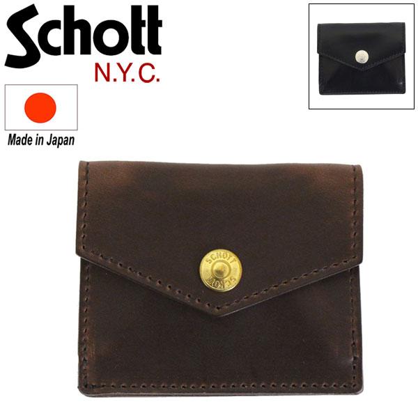 正規取扱店 Schott (ショット) 3109067 LEATHER EASY WALLET レザーイージー ウォレット 全2色