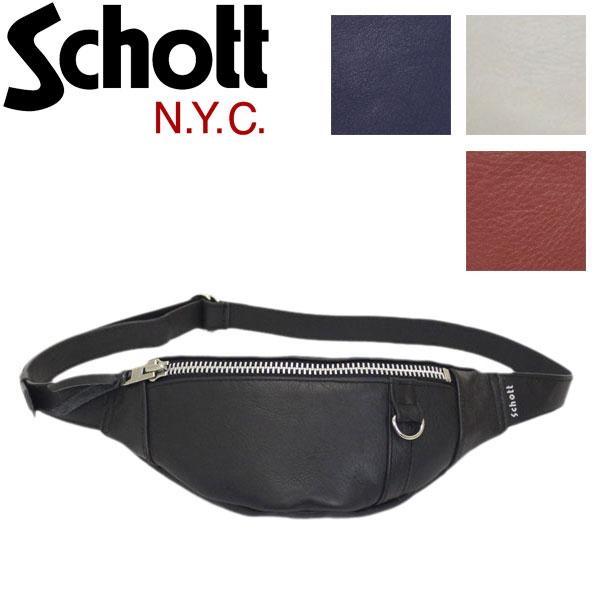正規取扱店 Schott (ショット) 3189028 LEATHER BODY BAG SMALL レザーボディバッグ スモール 全4色