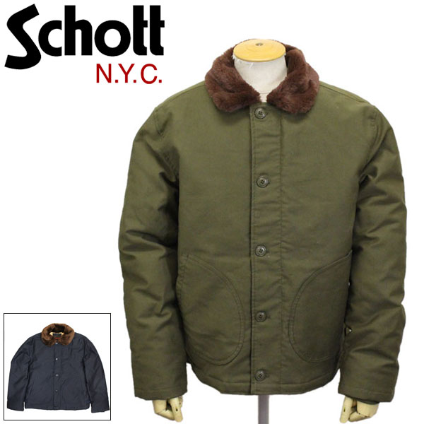 正規取扱店 Schott (ショット) 43809 8725D DOWN FILLED N-1 DECK JKT ダウンフィールド デッキジャケット 全2色