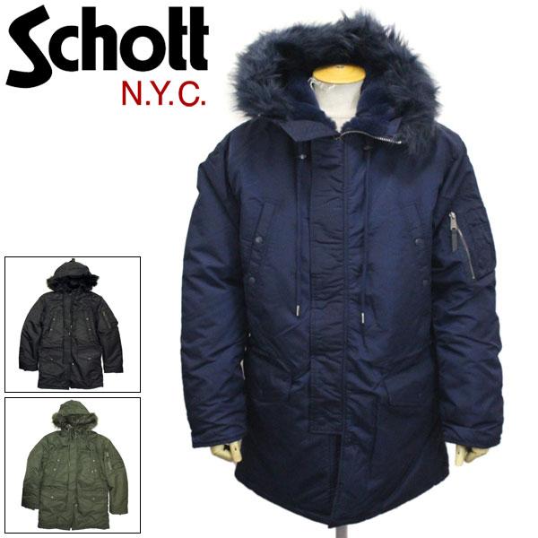正規取扱店 Schott (ショット) 45985 9838 NYLON N-3B ナイロン N-3B ジャケット 全3色