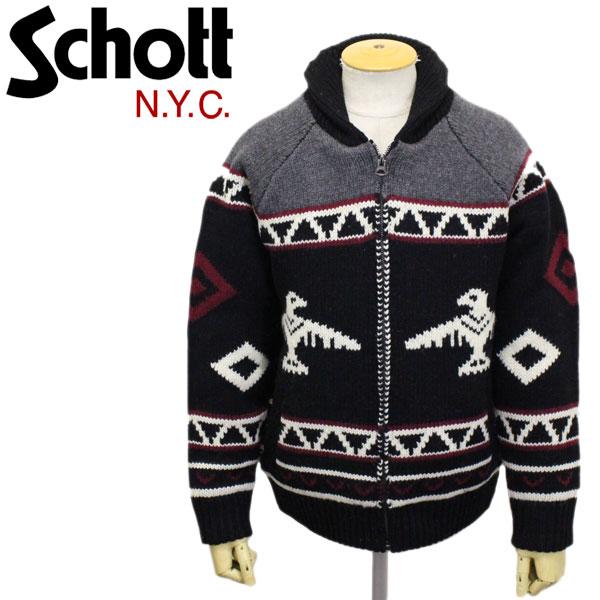 正規取扱店 Schott (ショット) 45992 F1958 THUNDER BIRD BOA LINED SWEATER JKT サンダーバード ボアライン セーター ジャケット 09BLACK
