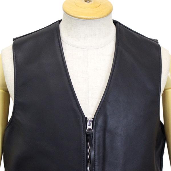0ebb19040f43ef 09-black made in the regular dealer Schott (shot) 693V Zip Front MC Vest  zip front desk motorcycle leather best United States
