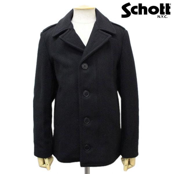 スーパーセール正規取扱店 SCHOTT(ショット) 798 MELTON FIELD COAT(メルトンフィールドコート) BLACK ブラック