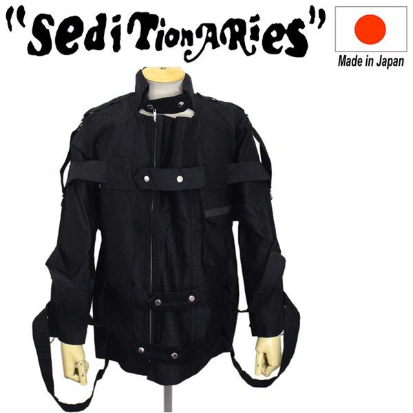 正規取扱店 SEDITIONARIES by 666 (セディショナリーズ) Bondage Jacket ボンデッジジャケット ブラック STJ0001