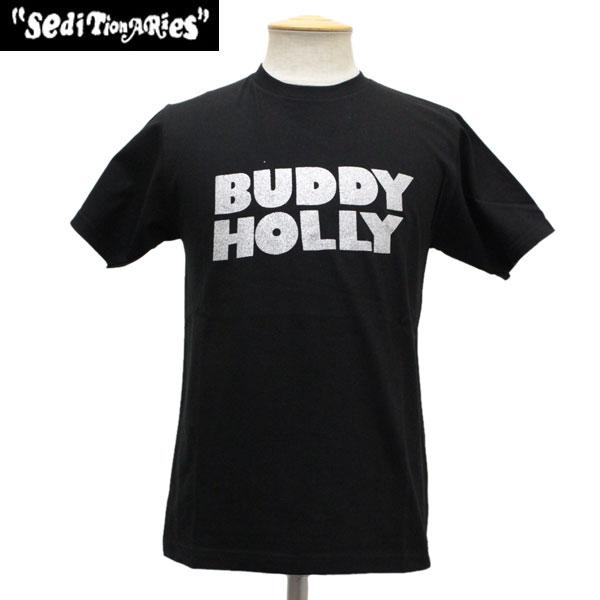 正規取扱店 SEDITIONARIES by 666 (セディショナリーズ) BUDDY HOLLY Tシャツ ブラックxシルバーラメ STO006