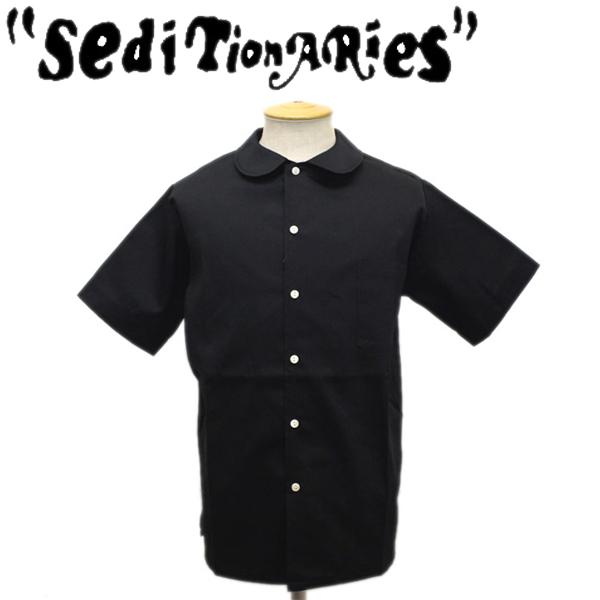 正規取扱店 SEDITIONARIES by 666 (セディショナリーズ) Peter Pan Shirt S/S (ピーターパンシャツ ショートスリーブ) 半袖 ブラック STS0001