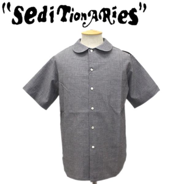 正規取扱店 SEDITIONARIES by 666 (セディショナリーズ) Peter Pan Shirt S/S (ピーターパンシャツ ショートスリーブ) 半袖 グレーダンガリー STS0001