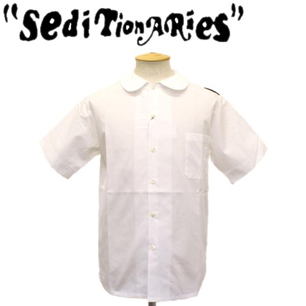 正規取扱店 SEDITIONARIES by 666 (セディショナリーズ) Peter Pan Shirt S/S (ピーターパンシャツ ショートスリーブ) 半袖 ホワイト STS003