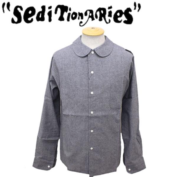 正規取扱店 SEDITIONARIES by 666 (セディショナリーズ) Peter Pan shirt L/S (ピーターパンシャツ ロングスリーブ) グレーダンガリー STS0005