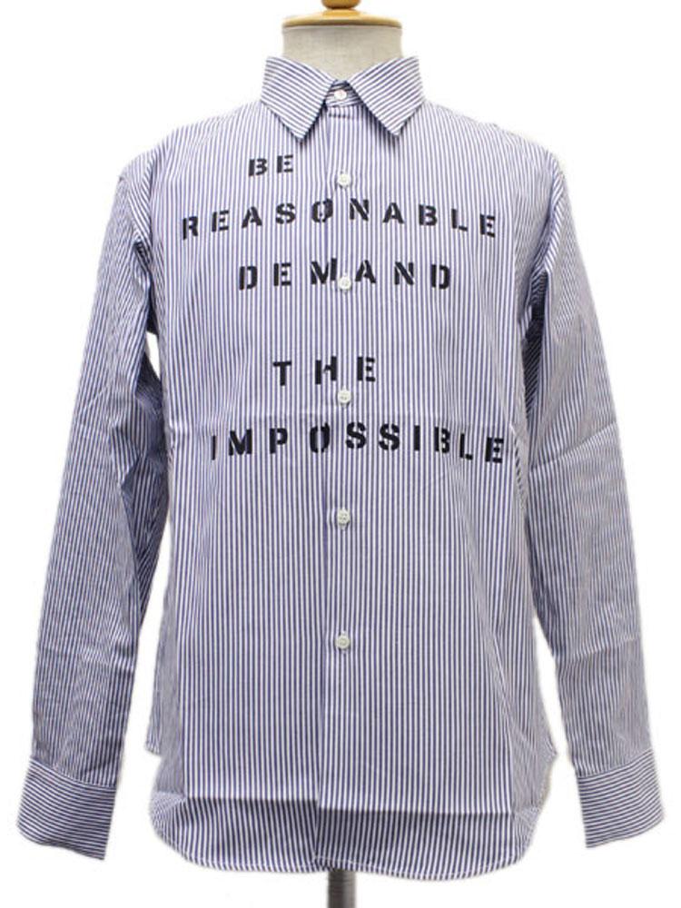 正規取扱店 SEDITIONARIES by 666 (セディショナリーズ) Be Reasonable Shirt(ビーリーズナブルシャツ) ネイビー/ホワイト STS120