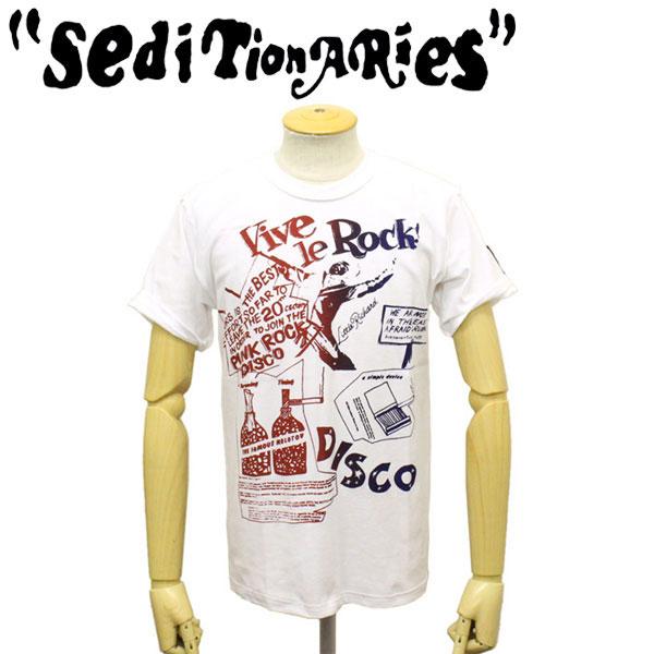 正規取扱店 SEDITIONARIES by 666 (セディショナリーズ) STZ0009 VIVE LE ROCK インサイドアウトTシャツ ホワイト/ネイビー/レッド